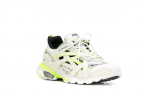 Track.2 Sneaker in white and neon yellow neoprene and rubber